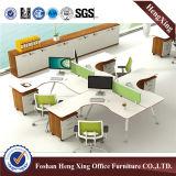 Estação de trabalho de madeira da divisória do escritório dos assentos da mobília de escritório 4 (HX-5N058)