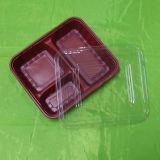 Rectángulo respetuoso del medio ambiente del PVC de la ampolla para los alimentos de preparación rápida