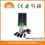 (HM-3012-1) миниая солнечная система DC 30W12ah с светильником СИД