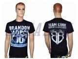 T-shirt ordinaire fait sur commande de polyester de sublimation d'Ozeason