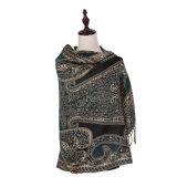 Jacquard longo Pashmina do lenço das mulheres elegantes para o inverno