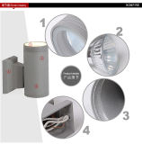 acima de Wall Light Round Shape para Near The Sea, Waterproof