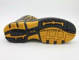 Род людей и ботинки безопасности неподдельной кожи верхние материальные кожаный