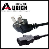Chinesisches Plug mit Online Handswitch PVC Power Cord Set CCC Cable CQC Plug