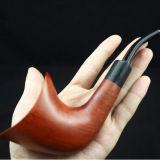 Seule grande pipe de fumage molle en bois rouge fabriquée à la main de traitement