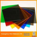 folha acrílica plástica do molde da cor de 3mm para anunciar a caixa leve