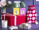 Candela profumata di lusso della cera della soia in vaso di vetro con il contenitore di regalo
