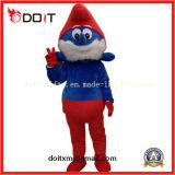 Traje vermelho da mascote dos desenhos animados para a venda