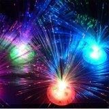 indicatore luminoso ottico variopinto della decorazione del fiore della fibra LED della batteria 3*AA
