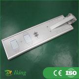 luz de rua 30W solar completa para a iluminação ao ar livre com sensor de movimento/Pólo/câmera