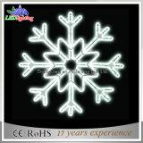 Indicatore luminoso illuminato bianco IP44 del fiocco di neve di natale dell'indicatore luminoso della corda
