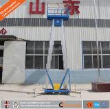De hydraulische Dubbele Persoonlijke Lift van de Legering van het Aluminium van de Mast/Kleine Liften voor Huizen