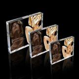 """Marco de acrílico del bloque, nuevos marcos de acrílico claros 5 de la foto """" 6 """" 7 """" 8 """" marcos de la visualización del cuadro con Magents"""