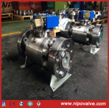 Mounted API 6D en acier forgé Tourillon Flanged Ball Valve