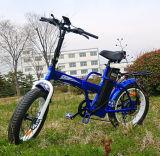 Bicicleta 2016 elétrica de dobramento de venda quente com 7-Speed Derailleur