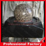 Прибалтийский шарик Brown с черным фонтаном воды основания гранита