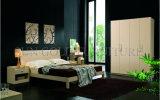 Mobília envernizada do jogo de quarto do lustro do projeto cama elevada elegante (SZ-BT007)