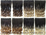 Jungfrau-Haar-Klipp-wellenförmiges Extensions-Haar und Klipps in der Haar-Extension