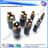 Câble d'alimentation électrique blindé de conducteur de PVC d'isolation de cuivre de la gaine XLPE