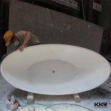 Kleines einfaches ovales Steinharz-freistehende Badewanne (BT1608180)