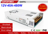 Alimentazione elettrica di commutazione del driver 12V 40A 480W del LED riservata alla stampante