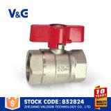 Valogin Messingkugel-Wasser-Ventil mit dem Nickel überzogen
