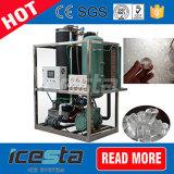 Máquinas de hacer hielo comestibles 5t/24hrs del hielo 5000kg del tubo de Icesta