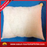 Дешевая белая подушка Microfiber для авиакомпании