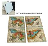 Couvre-tapis promotionnel de cuvette de café de cadeau de fournisseur de la Chine, caboteur en céramique de premier modèle