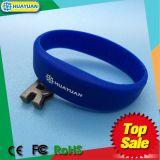 bracelet d'IDENTIFICATION RF de silicones de 13.56MHz MIFARE DESFire EV1 2K Rewearable
