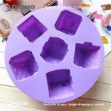 Moldes do cozimento do silicone do alimento das casas da violeta 6 do Manufactory de Qinuo