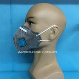 Securiy aktive Kohlenstoff-Gesichtsmaske mit Ventil falten