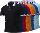 Рубашки пола лидирующего ворота краски пряжи цветов Striped изготовленный на заказ для розницы (OEM)