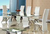 판매를 위한 현대 금속 가구 유리제 식탁