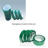 Cinta adhesiva del poliester verde para la capa del polvo