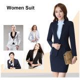 100%年の綿の形式的なブレザーの女性のスーツ