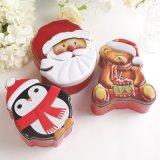 Комплекты Санта коробок олова рождества медведя пингвина олова