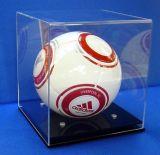 Acrylfußball-Kugel-Einkommen-Würfel-Halter mit schwarzer Unterseite