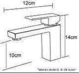 Filigrana sanitaria de las mercancías y mezclador de cobre amarillo Tapware (HD4203) del lavabo del solo cuadrado de la palanca de Wels