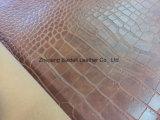 قطر تقليد مخمل [بفك] جلد لأنّ سيئة [بغ]/أريكة/أثاث لازم مع تمساح تصميم