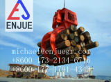 El gancho agarrador de madera del gancho agarrador hidráulico eléctrico de la madera ataca