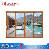 Двери водоустойчивого алюминия Китая вися с красным цветом