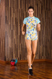 Sportswear обжатия гимнастики Spandex+Polyester Teamsports женщины идущий подходящий