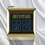 interruptor del tacto del termóstato del acondicionador de aire 4-Pipe en el marco del metal (SK-AC2000B-4P)