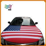 Elastisches Gewebe-kundenspezifische Auto-Hauben-Deckel-Markierungsfahne für das Laufen