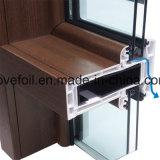 Película exterior do PVC da decoração do uso para perfis do indicador de U-PVC