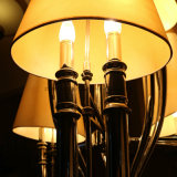 Europäisches dekoratives Chrom-hängende Lampe mit Gewebe-Farbton für Hotel