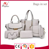 Mk532 China modificó el conjunto blanco del bolso para requisitos particulares del monedero del bolso de la PU 6PCS
