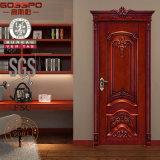 Entrée principale en bois de modèle classique fait sur commande de pièce pour la Chambre (GSP2-006)