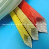 Bernsteinfarbiges Farbe 4.0kv PU-überzogenes Fiberglas-umsponnenes elektrisches Draht-Isolierung Sleeving